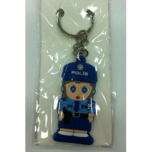 Anahtarlık EGM Polis Silikon Maskot Bayan