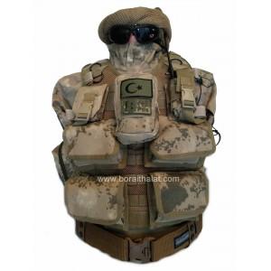 Bombaatar Hücum Yeleği  Jandarma YeniTip 4lü (Plakalıklı)