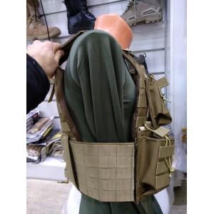 HK33 G3 Sig Hücum Yeleği Çölrengi  Göbek Üstü  (Plakalıklı)