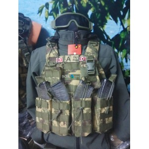 Hücum Yeleği HK33 G3 Göbek Üstü 5,56 -7,62   (Plakalıklı)
