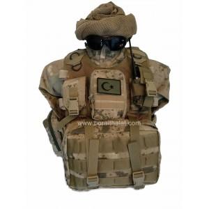 MG3 Hücum Yeleği ,Bixi Hücum Yeleği  Jandarma YeniTip 100lü (Plakalıklı)