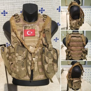 AK47  Kalaşnikof  Hücum Yeleği  Yenitip Fileli 4lü (Plakalıklı)
