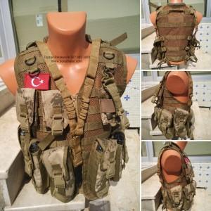 AK47  Kalaşnikof  Hücum Yeleği  Yenitip 6lı Fermuarlı (Plakalıklı)
