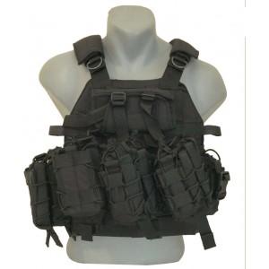 Özel Dikim Siyah Hücum Yeleği Sig-HK33-Mpt-Ak47  (Plakalıklı)