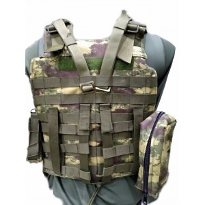 Özel Dikim 7B Hücum Yeleği Kamuflajlı HK33 Mpt76 MPT55 G3  (Plakalıklı)