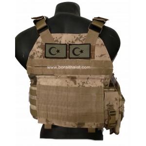 Özel Dikim Jandarma Hücum Yeleği HK33 Mpt76 Ak47  (Plakalıklı)