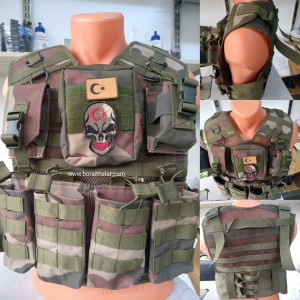 Yeni Tip Piyade MPT HK33 G3 Hücum Yeleği  (Plakalıklı)