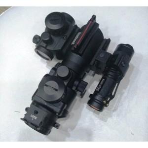 4X32 Kompakt Lazerli Fenerli Reddot Seti