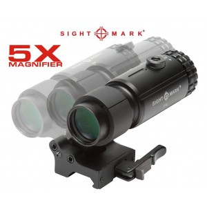 5x Tactical Magnifier Yana Yatan - Clamshell Yakınlaştırıcı