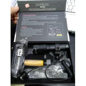 Kablolu Tüfek Feneri Zoomlu Şarjlı  Cree 5 Parça