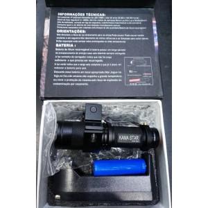 Tüfek Feneri Zoomlu Şarjlı  Kama Q5 4 Parça