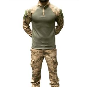 Askeri Kamuflaj  Pantolon Tişört Set