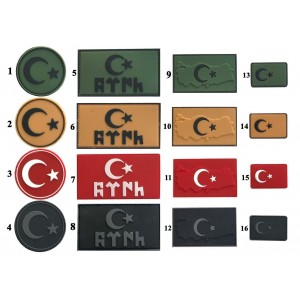 Silikon Peç Türk Bayrağı