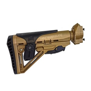 HK33 G3 Uyumlu Plastik Çöl Sarı Teleskobik Amortisörlü Dipçik